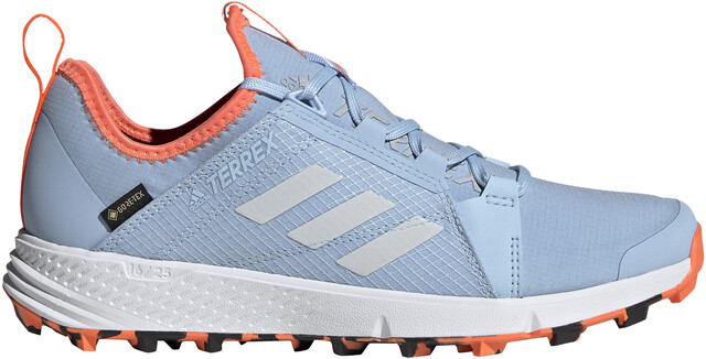 adidas TERREX Agravic Speed GTX Shoes Women glossy blue/footwear  white/hi-res coral